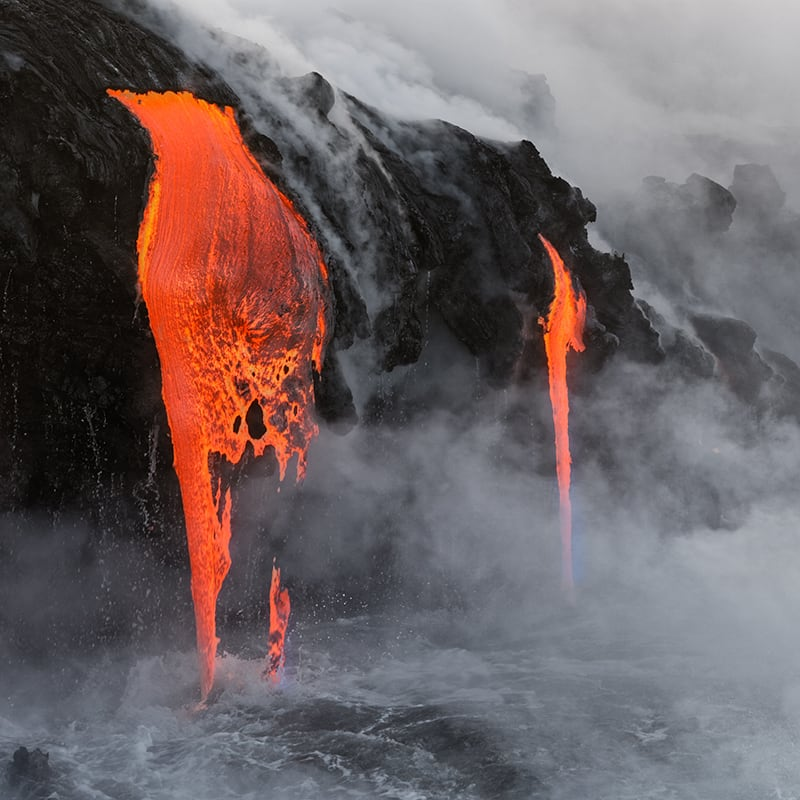 Volcano with magma